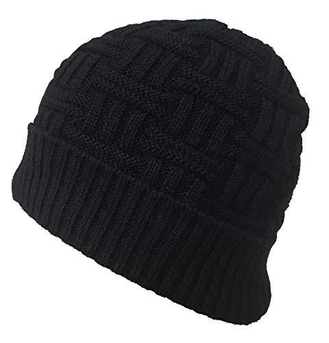 Gajraj Winter Warm Knitted Woolen Skull Cap for Men & Women (Black)