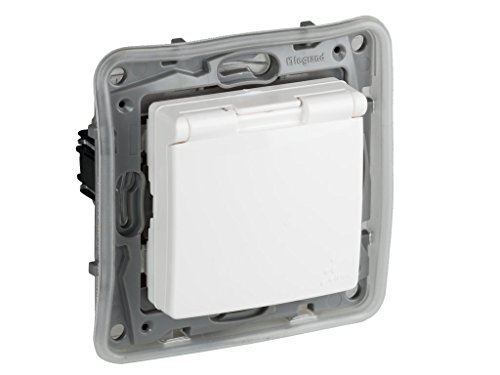 legrand 397802 Base de enchufe protegida, 230 V, Blanco
