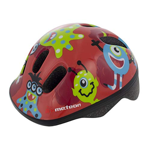 Casco Bicicleta Bebe Helmet Bici Ciclismo para Niño - Cascos para Infantil Bici Helmet para Patinete Ciclismo Montaña BMX Carretera Skate Patines monopatines MV6-2 (S(48-52cm), Monsters)