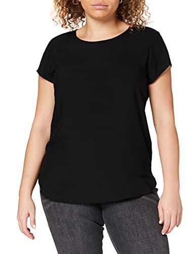 VERO MODA Damen Boca SS TOP T-Shirt, Schwarz (Black), 40 (L)