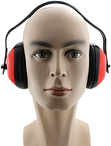 TONG Placas Anti-Ruido, protección Super oído, Auriculares insonorizados para Dormir Cómodo (Color : Red, Size : One Size)