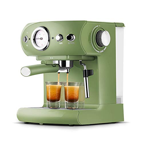 Fully Semi-automatic Coffee Machine Retro Style Espresso Pump Type Household And Commercial Steam Type Milk Foam Strong