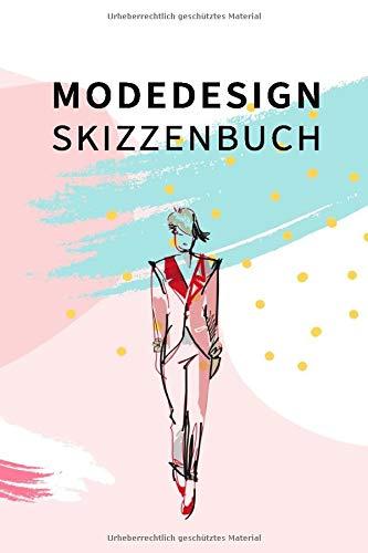 Modedesign Skizzenbuch: Fashion Modedesign Zeichenbuch für Modedesigner und Modedesign Studium mit Moodboard und weibliche Silhouette zum entwerfen ... zeichnen. Vorbereitung für Modedesign Mappe.