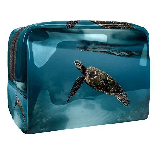 Maquillage Cosmetic Case Multifunction Travel Toiletry Storage Bag Organizer for Women - Animal Turtle Diving Marine Ocean