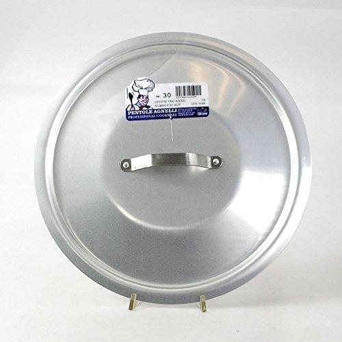 Pentole Agnelli ALMA12942 Coperchio Rotondo Pesante con Ponticello, Alluminio Professionale 3 mm, 42 cm