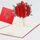Tarjeta de boda especial emergente, tarjeta de cumpleaños emergente 3d, tarjeta de regalo de cumpleaños para esposa, tarjeta de cumpleaños para mujer( tarjetas de Navidad, día de la madre)