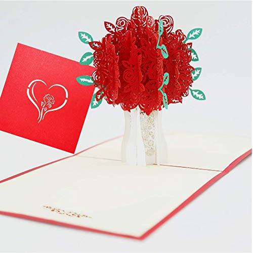 Pop Up Karte Valentinstag,Geburtstagskarte für Frauen,Geburtstagskarte 3d,Hochzeitskarte Pop Up,Karte Geburtstag für Frauen,Birthday Card Wife(Hochzeit,Valentinstag,Muttertag)