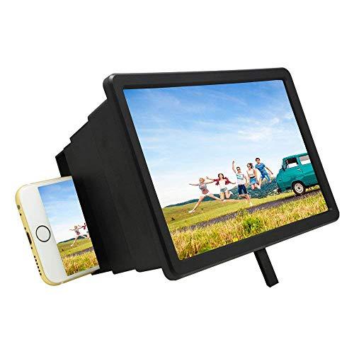 Lupas, lupa de pantalla 3d, portátil de 8 pulgadas para teléfono celular hd, película, video, amplificador agrandado, soporte para Iphone 7/7 Plus / 6 / 6s / 6 Plus / 6s Plus y todos los demás teléfo