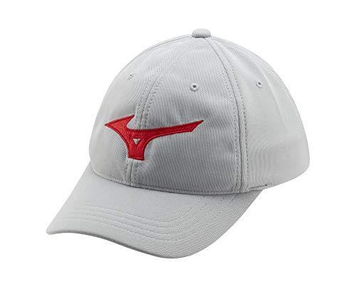Mizuno Tour Gorra de Golf Ajustable, Sombrero de Golf, 260308.9110.10.One, Gris-Red, Talla única