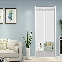 フライスクリーンドア 100x250cm 夏に涼しい エコ 間仕切りカーテン 簡単取り付け 穴をあける必要がなく 玄関/寝室/勝手口/部屋/ベランダ/キッチン に, 灰 A