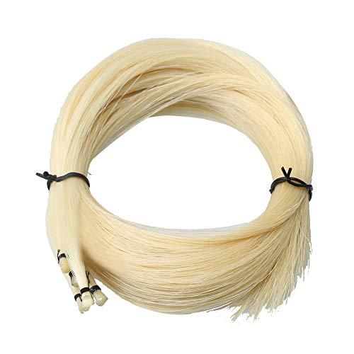 Weiß 32,68 Zoll Violinenbogen-Haar-Rosshaar für Violinenbogen-Ersatzteile natürliche ungebleichte 50g