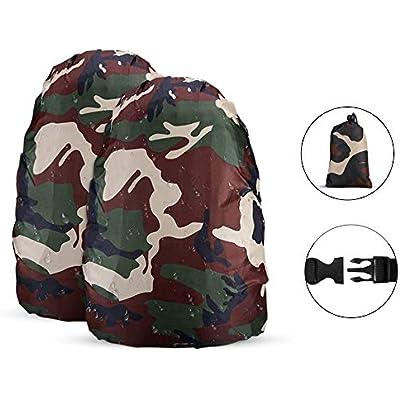 Pack of 2 Black M Size AGPTEK Waterproof Backpack Rain Cover
