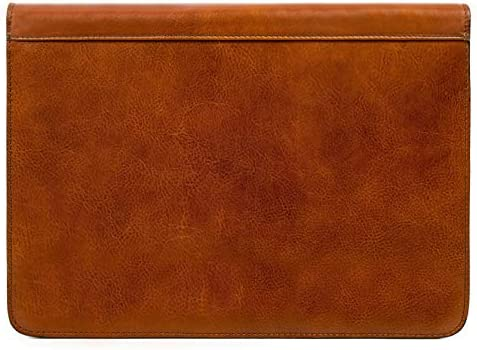 Leather Portfolio Document Folder Handcrafted Case Brown Time Resistance product image