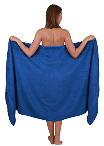Betz Badetuch groß XXL Größe 100 x 200 cm Badetücher Saunatuch Palermo 100% Baumwolle Farbe Blau