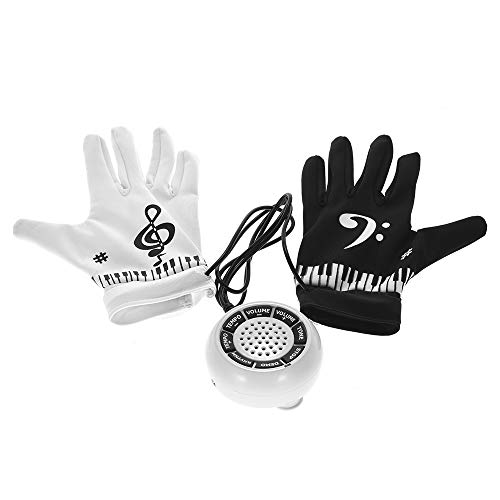 Fesjoy Electric Piano Handschuhe Elektronische Hand Klavier Handschuhe mit musikalischen Fingerspitzen Lautsprecher Hand Übung Instrument Keyboard Musical Spiel Geschenke