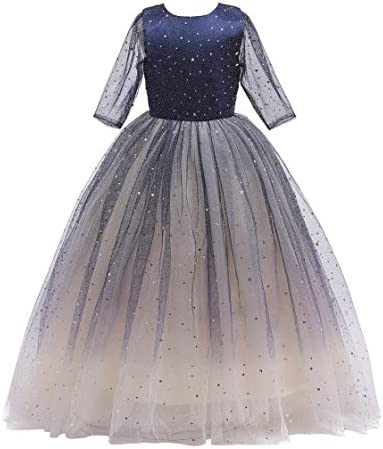 Glamulice Christmas New Year Flower Girl Dress Junior Sparkle Tulle Wedding Lace Bridesmaid product image