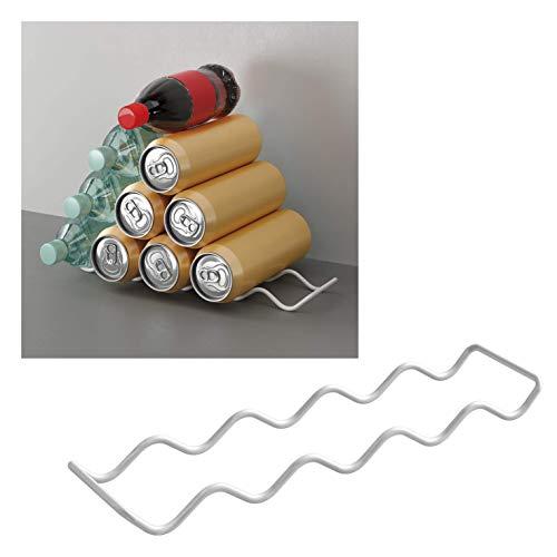 Metaltex Dispensador latas, Blanco, 8x33x2 cm