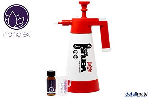 detailmate Versiegelung Set aus Nanolex WashCoat 50 ml + Kwazar Professional Venus super Pumpsprüher 1,5 L Säure geeignet + Messbecher 50 ml