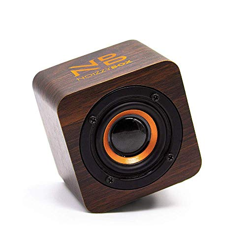NB NOIZZYBOX Cube XS Premium Wood Finish Portable Wireless Bluetooth 5.0 Speaker with 5W Output; HD Sound and 14+ Hrs Playtime; Aux-in/TWS (Oakwood Brown)
