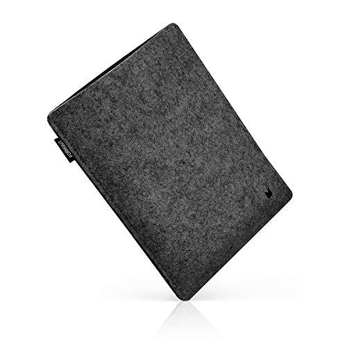FORMGUT® iPad-Tasche, Tablet Sleeve Hülle aus Filz für iPad Pro 12,9 Zoll (Generation 1-2) / Tablet-Tasche, Filz-huelle, Schutzhuelle, Filztasche, Schutztasche, Cover/Dunkelgrau Schwarz