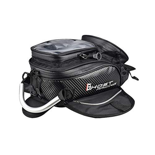 QXDZSWB - Bolsa magnética para depósito de aceite para motocicleta, para teléfono móvil, navegación, GPS, bolsa multifuncional para motocicleta, motocross, equipaje de viaje (nombre de color: DJCB11)