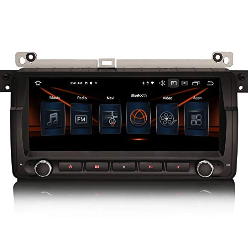 ERISIN 8.8 Zoll Android 10.0 Autoradio für BMW 3er E46 320 M3 Rover MG ZT Unterstützt GPS-Navi Carplay Android Auto DSP Bluetooth A2DP DVB-T/T2 WiFi DAB+ 8-Kern 4GB RAM+64GB ROM