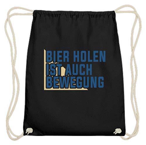 Hoogwaardige katoenen gymzak - Bier Holen Is ook beweging - eenvoudig en grappig design