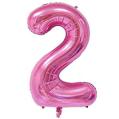 Tellpet Pink Number 2 Balloon, 40 Inch