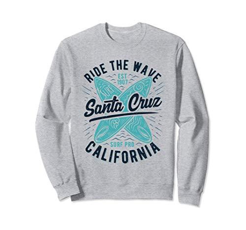 Santa Cruz Ride The Wave Surfer Girl Surfer Estate Felpa