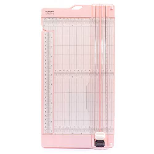 Vaessen Creative Cortadora de Papel y Base para Marcar, 15,2 x 30,5 cm, Scrapbooking, Creación de Tarjetas y Otras Manualidades, Rosa