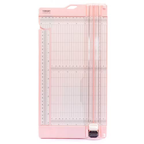 """Vaessen Creative Trimmer and Scoring Board 6"""" for Scrapbooking, Cardmaking and Other Paper Crafts, Pink, 15,2 x 30,5 cm"""