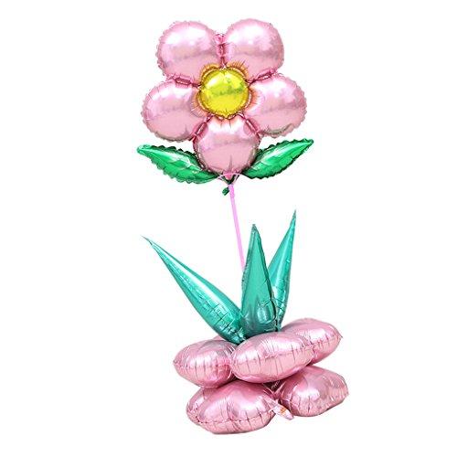 Colonna di Palloncini Fiori in Mongolfiera per Bambini Decorazioni per Feste Compleanno Battesimo - Rosa