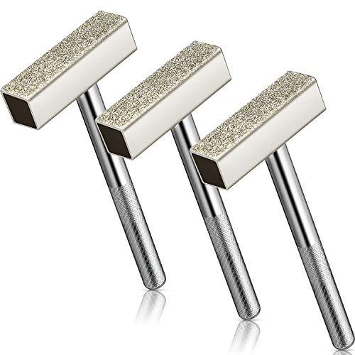 3 Stücke Schleifscheibe Dresser Diamant Schleifscheiben Kommode Stein Kommode Tischschleifmaschine zum Schleifen von Entgratungsscheiben, Silber