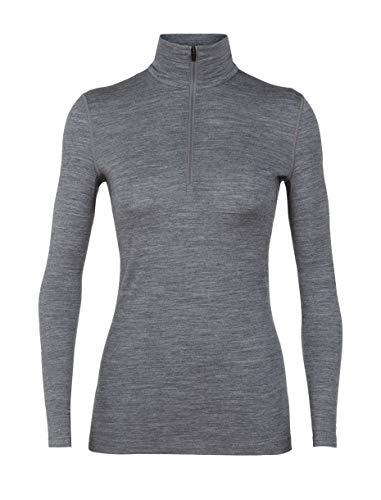 Icebreaker Merino Women's 200 Oasis Long Sleeve Half Zip, Gritstone Heather, X-Small