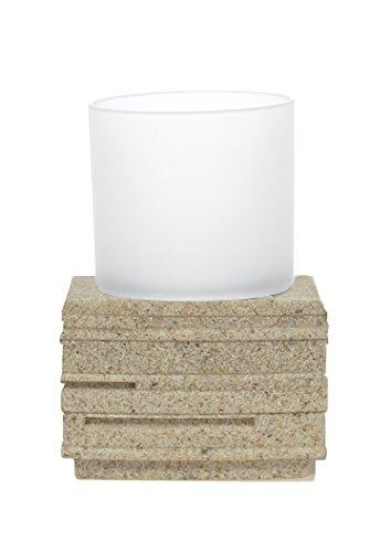 Grund z22150111 Brick Mug 8,3 x 8,3 x 9,5 cm écru Accessoires, 100% Polyrésine, 8,3 x 8,3 x 9,5 cm
