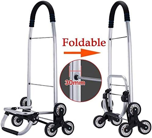 Color : Red Lightweight Folding Shopping Cart,Large Capacity Shopping Trolley,Utility Stair Climbing Trolley With Waterproof Detachable Bag,Climber Oversize Back Wheels Swivel Front Wheels,40L 601