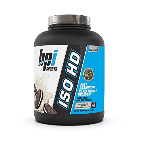 Bpi Sports Iso-HD Supplement, 5 lbs, Cookies & Cream