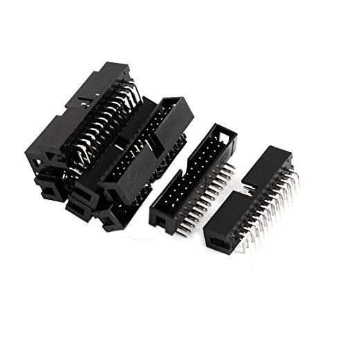 Sourcingmap® Placa PCB Conector de Doble Filas de 26 Pines del Cabezal Hembra Negro 9 pcs
