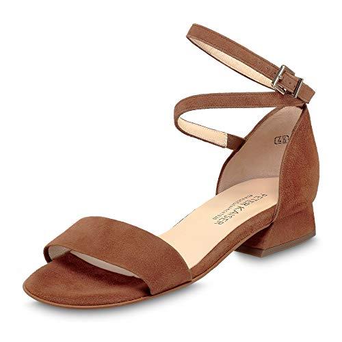 PETER KAISER Mujer Sandalias de Vestir PAMILA, señora Sandalia con Tiras, Sandalias con Correa,Zapatos de Verano,cómodo,Confort,Sable,37 EU / 4 UK
