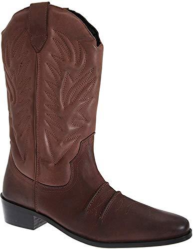 GRINGOS hombre marrón oscuro / Negro Cuero Botas de vaquero