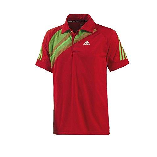 adidas Atake Herren Polo, Größe:S, Farbe:Rot
