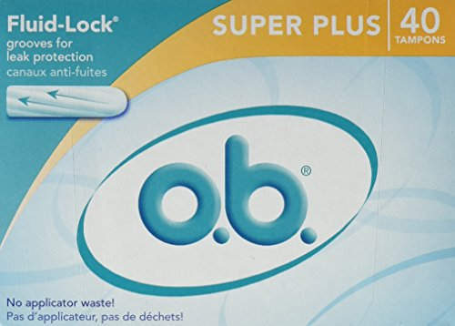o.b. Super Plus Absorbency Tampons, 40 (Pack of), 3 Count