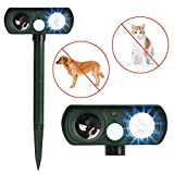 Humutan Ultrasonic Dog Repellent, Solar Powered and Waterproof PIR Sensor Repeller for...