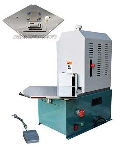 INTBUYING Automatic Electric Corner Rounder Cutter Equipped R3 R4 R5 R6 R7 R8 R10 7kinds Multi-Knife Blade Dies for Cutaway Card PVC Paper with Aluminum Pallets Machine
