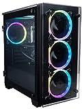 CUK Stratos Micro Business Desktop (Intel Core i7 K-Series, 32GB DDR4 RAM, 512GB NVMe SSD + 2TB HDD, 500W PSU, AC WiFi, Windows 10 Pro) Professional PC Computer