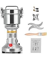 HUKOER Draagbare grinder molen 220 V Kruidenkorrel Spice koffiemolen Grinder Poeder, 3 messen Timing Grinding Machine Keukenmachine met hoge snelheid