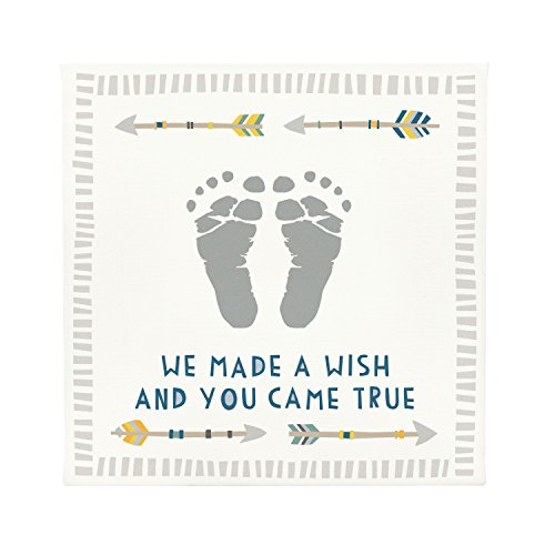 Pearhead Babyprints Wall Art with Paint, White, Boy
