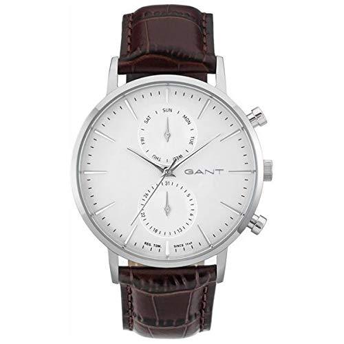GANT TIME Herren Analog Quarz Uhr mit Leder Armband W11201