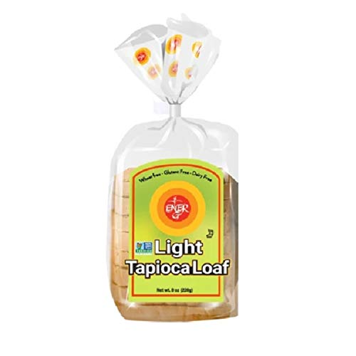 Gluten Free Light Tapioca Loaf by Ener-G | Vegan Sliced Bread | Low-Protein, Non-GMO, Kosher | Single Pack 8 oz/ 10 Slice Loaf
