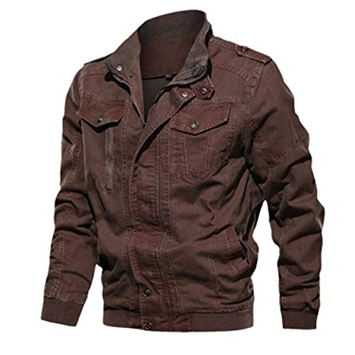 HBODHBGS Primavera Autumn Mens Denim Jacket Trendy Romed Denim Jacket Mens Jeans Chaqueta Outwear Outwear Abrigos de Vaquero Masculino Red XXL